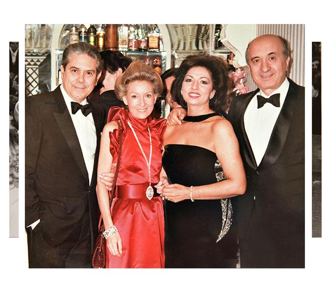 Isabella e Rodolfo con i coniugi De Mita
