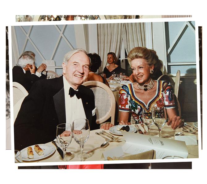 Isabella con David Rockefeller
