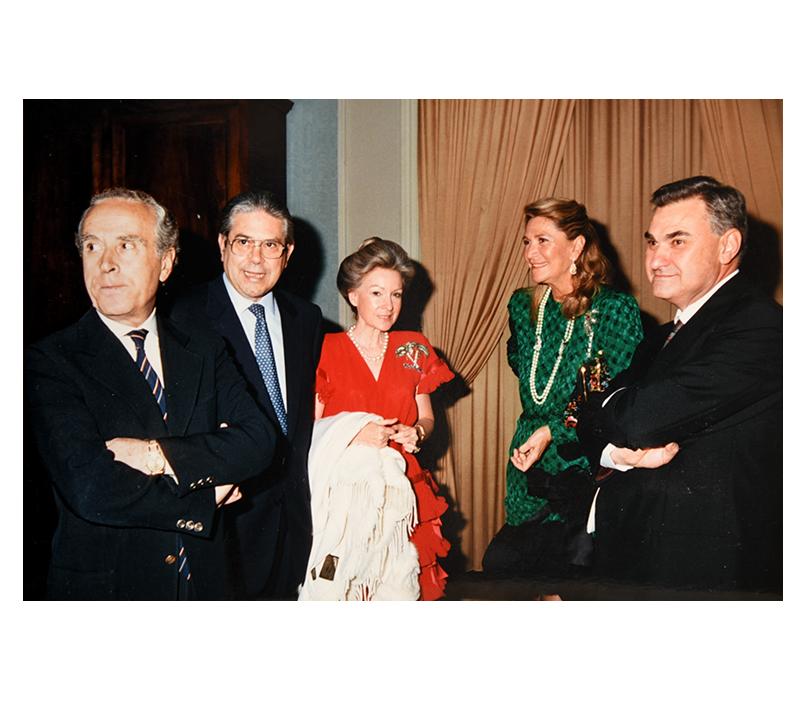 Isabella con Marta Marzotto