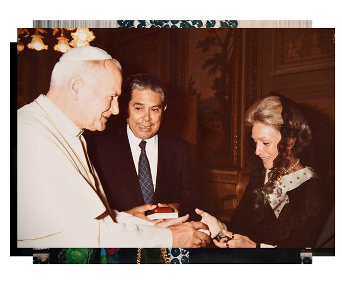 Incontro privato con Papà Giovanni Paolo II