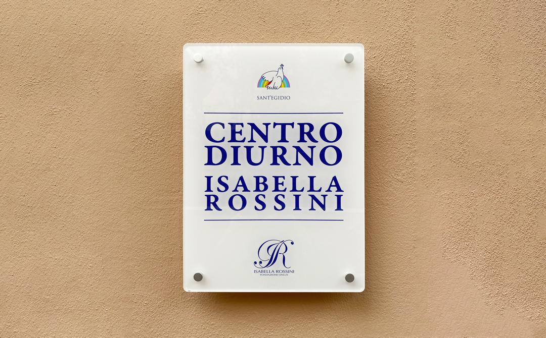 INAUGURATO IL CENTRO DIURNO ISABELLA ROSSINI PRESSO LA CASA FAMIGLIA DELLA COMUNITA' DI SANT'EGIDIO.